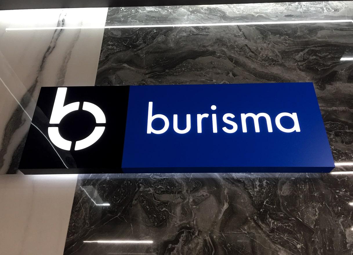 Виготовлення та монтаж вивіски для офісу компанії «Burisma»