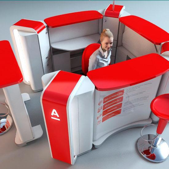 Розробка дизайну зони обслуговування клієнтів для «Альфа банк»