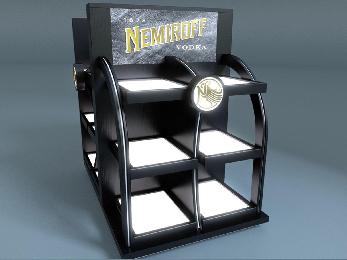 Розробка дизайну стійок для компанії «Nemiroff»