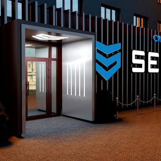 Оформлення фасаду для компанії «Secur»
