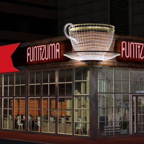 Розробка проекту рекламного оформлення фасаду для кафе «Funtizuma»