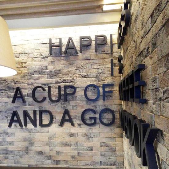 Виготовлення та монтаж об'ємних не світлових букв для кафе