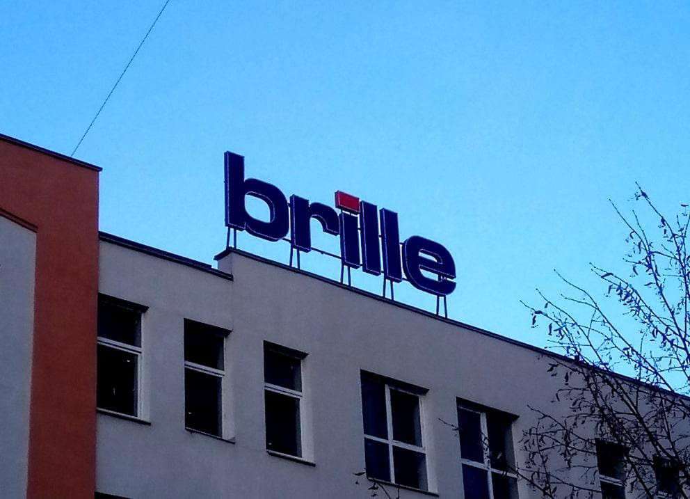 Виготовлення та монтаж кришної рекламної конструкції для компанії «Brille»
