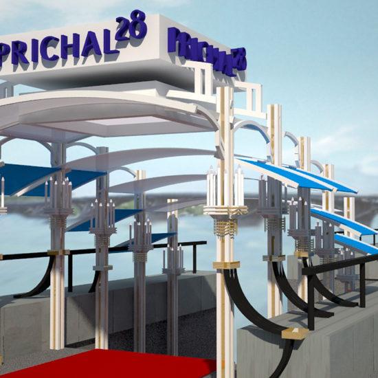 Розробка проекту рекламного оформлення вхідної групи для ресторану «Prichal 28»
