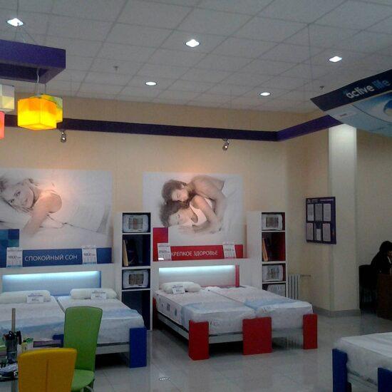 Оформлення мережі магазинів «Территория сна»