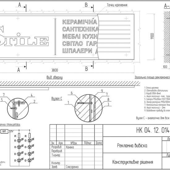Оформлення дозвільної документації для рекламної конструкції салону меблів «Stile».