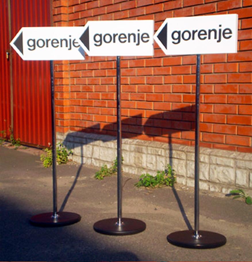 Виготовлення вказівників для компанії «Gorenje»